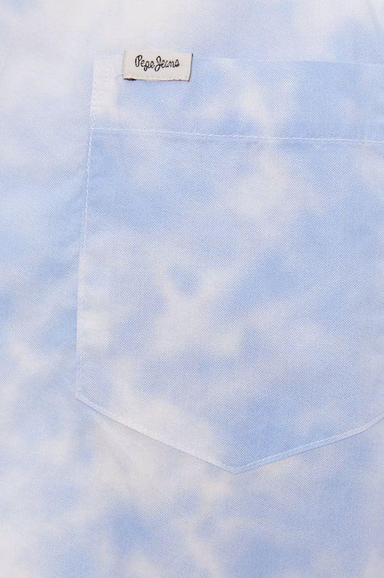 Pepe Jeans - Koszula bawełniana Shawn niebieski