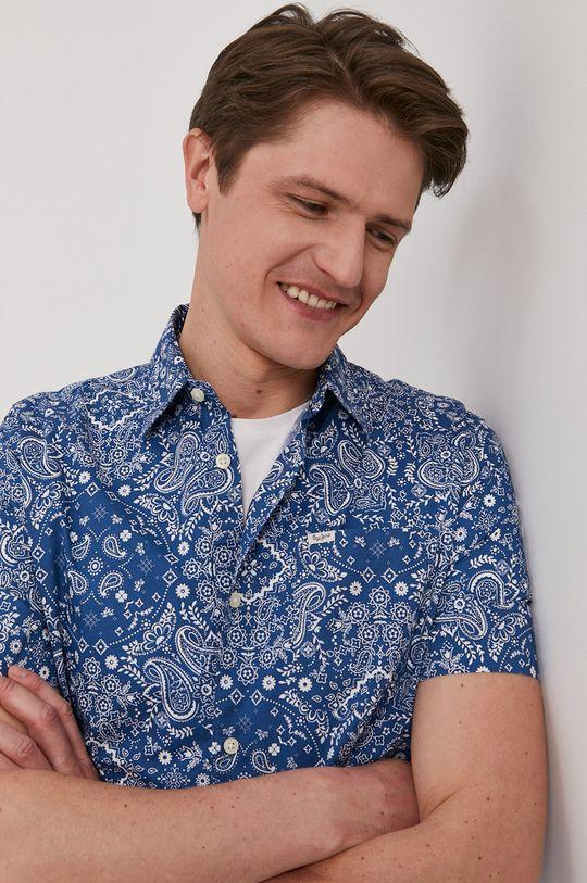 niebieski Pepe Jeans - Koszula Porter Męski
