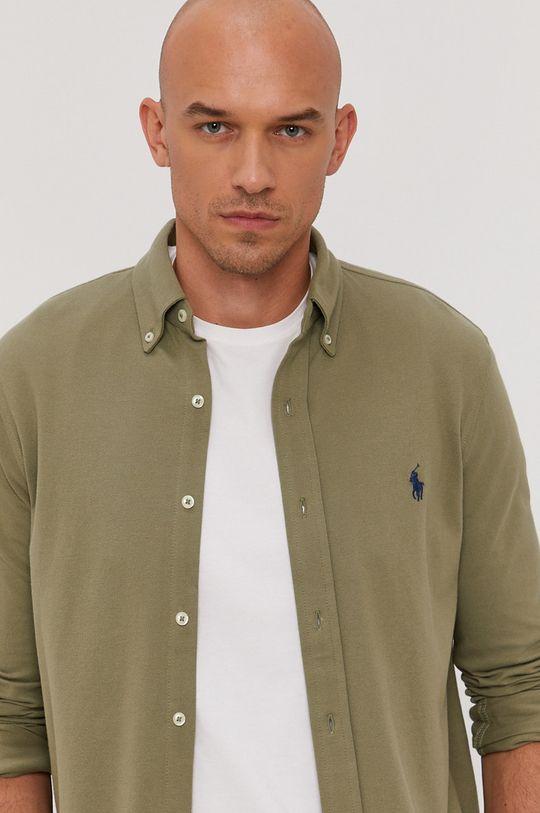 oliwkowy Polo Ralph Lauren - Koszula bawełniana Męski
