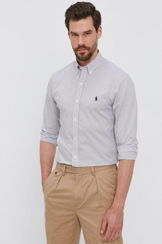 světle šedá Polo Ralph Lauren - Bavlněné tričko Pánský