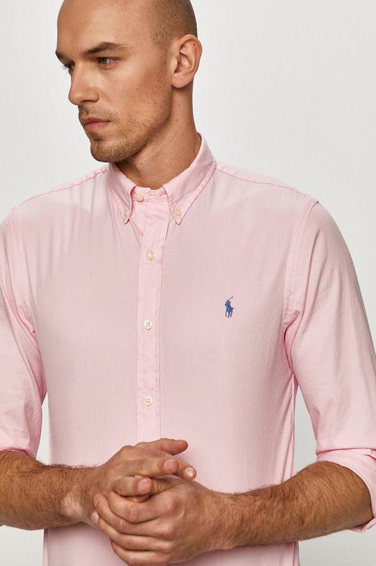 рожевий Polo Ralph Lauren - Бавовняна сорочка Чоловічий