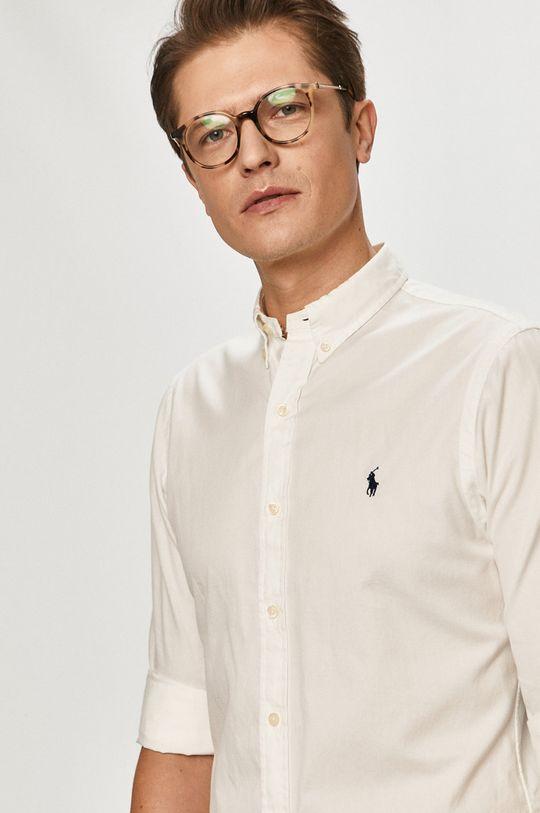 biela Polo Ralph Lauren - Bavlnená košeľa Pánsky