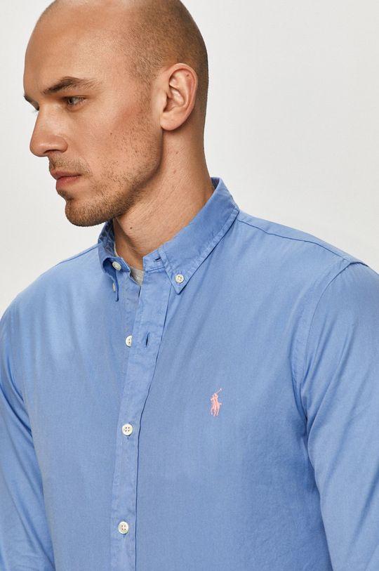 modrá Polo Ralph Lauren - Bavlnená košeľa Pánsky