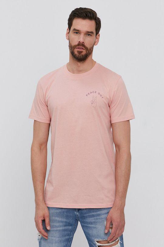 różowy Selected - T-shirt Męski