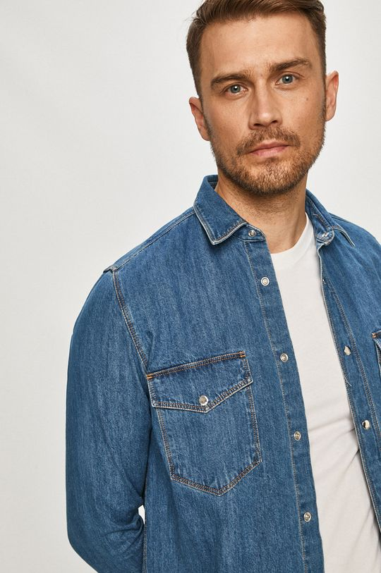 modrá Hugo - Bavlněné tričko Pánský