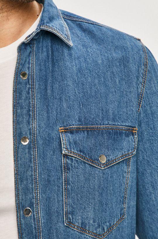 Hugo - Bavlněné tričko modrá