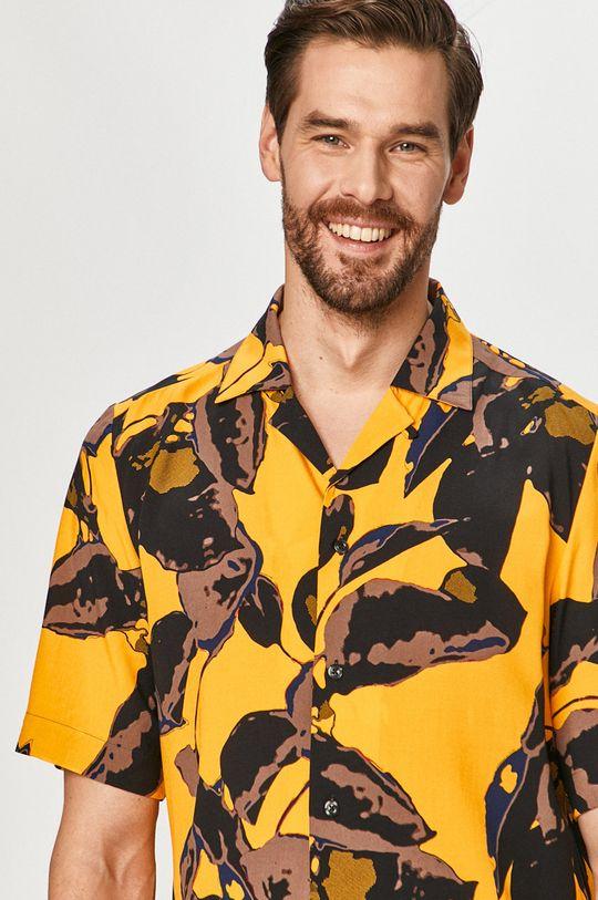 svetlo oranžová Hugo - Košeľa Pánsky
