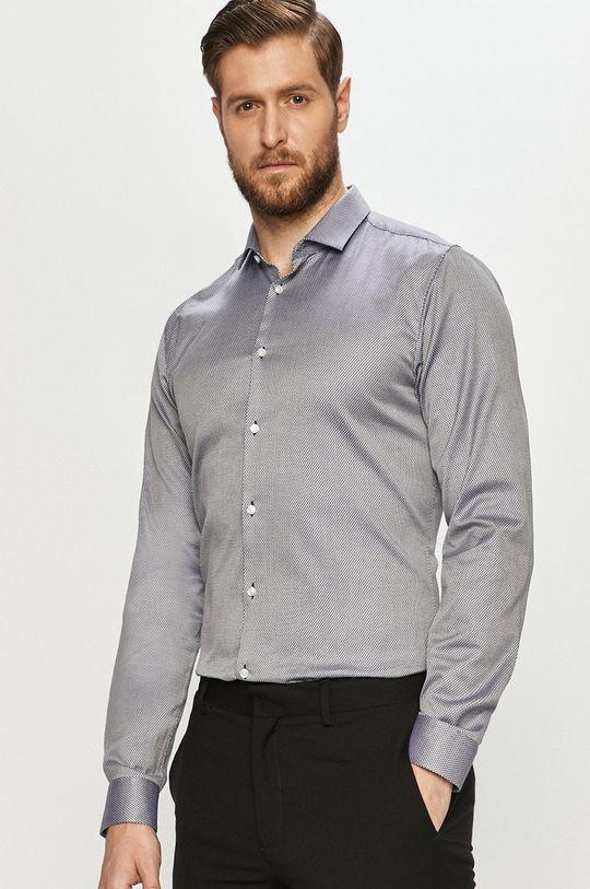 tmavomodrá Hugo - Bavlnená košeľa Pánsky