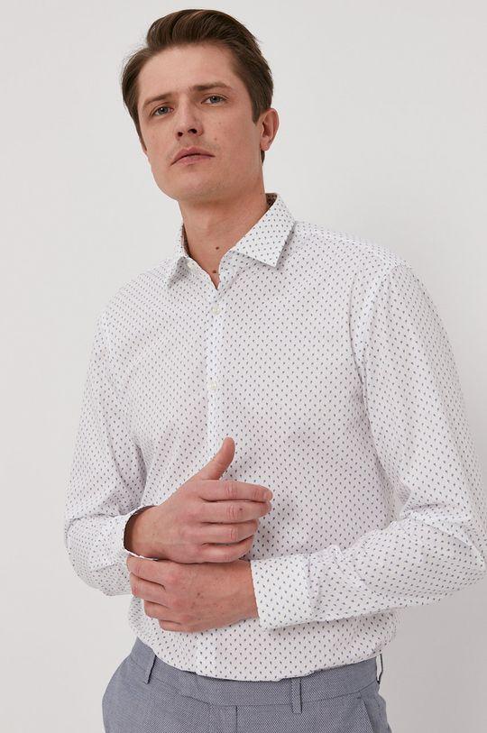 biały Hugo - Koszula bawełniana Męski