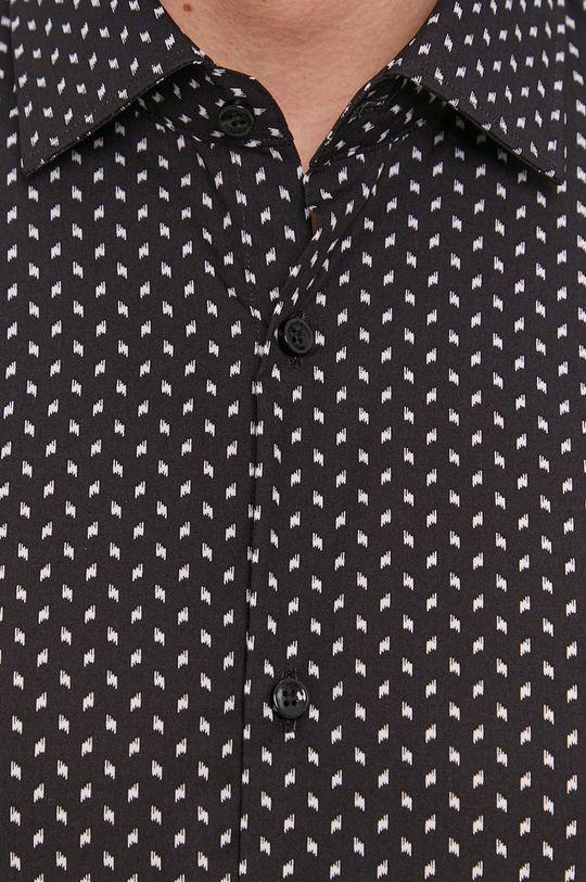Hugo - Koszula bawełniana czarny