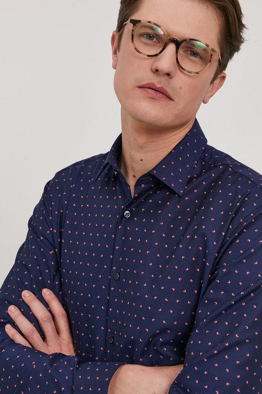 granatowy Hugo - Koszula Męski