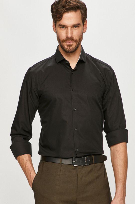černá Hugo - Bavlněné tričko Pánský