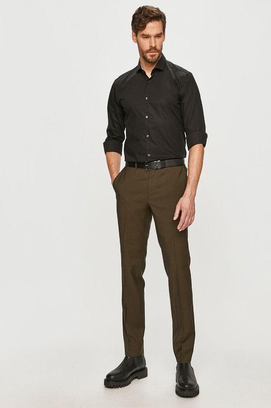 Hugo - Bavlněné tričko černá