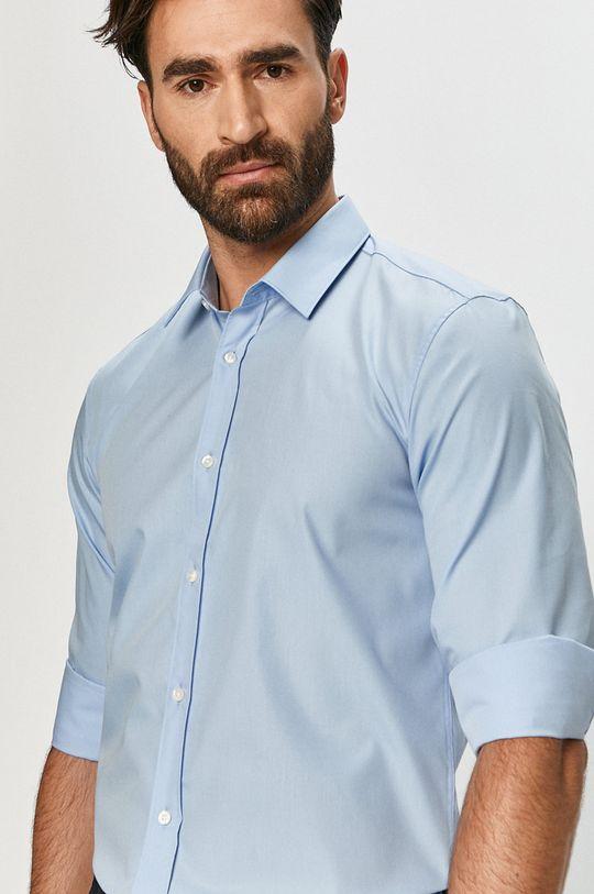albastru deschis Hugo - Camasa din bumbac De bărbați
