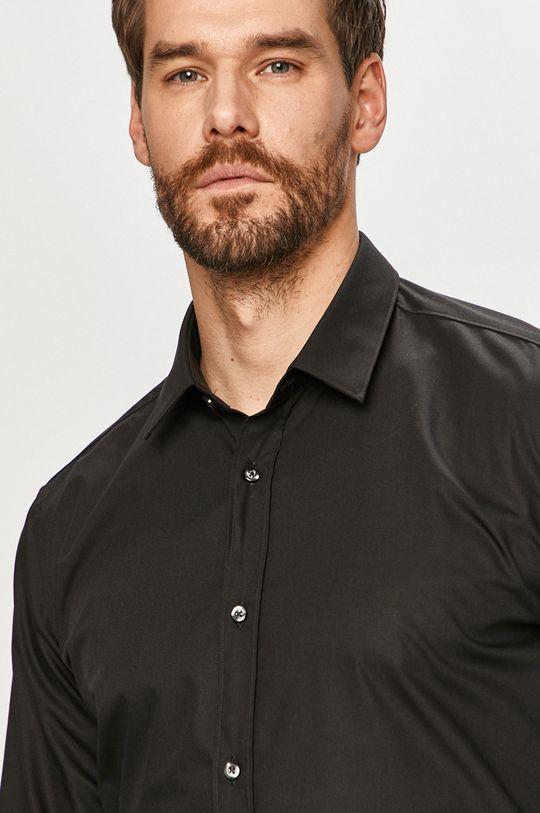 negru Hugo - Camasa din bumbac De bărbați