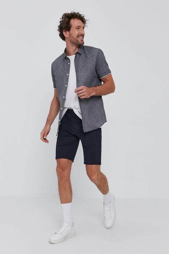 Hugo - Koszula 45 % Bawełna, 55 % Len