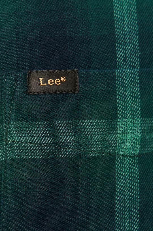 Lee - Koszula bawełniana ciemny zielony