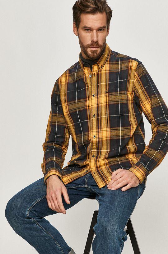 żółty Wrangler - Koszula bawełniana Męski