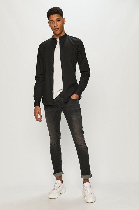 Tigha - Koszula Ole stretch czarny