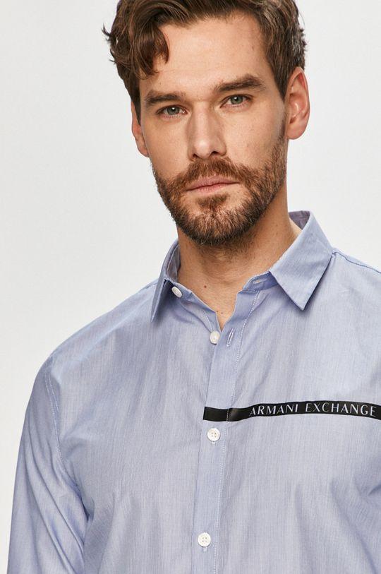 světle modrá Armani Exchange - Košile Pánský