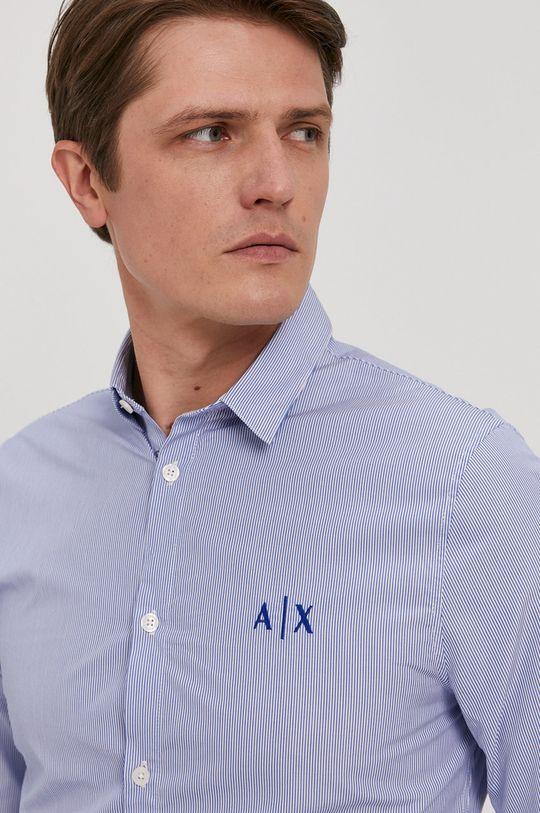 niebieski Armani Exchange - Koszula bawełniana Męski