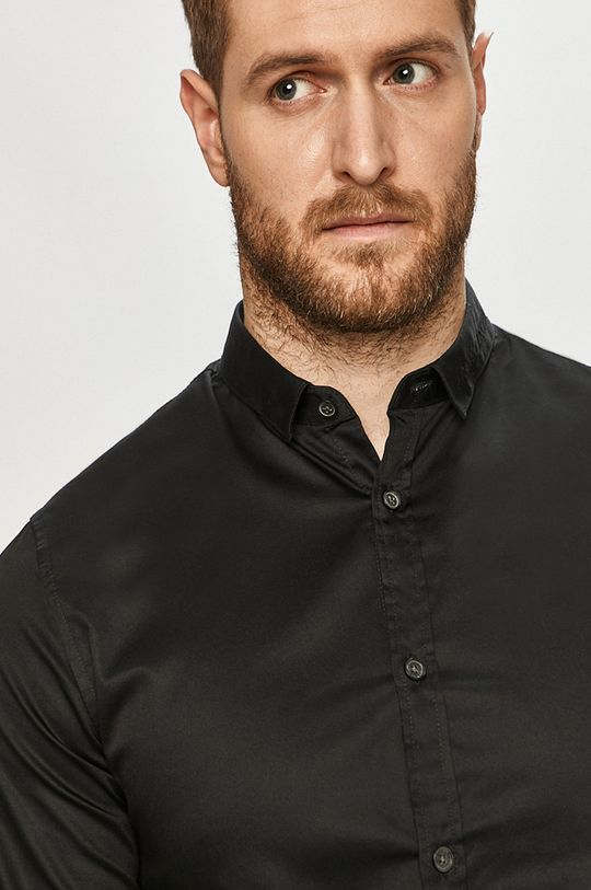czarny Armani Exchange - Koszula bawełniana Męski