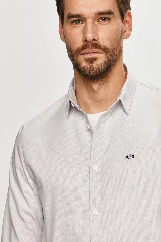 biały Armani Exchange - Koszula bawełniana Męski