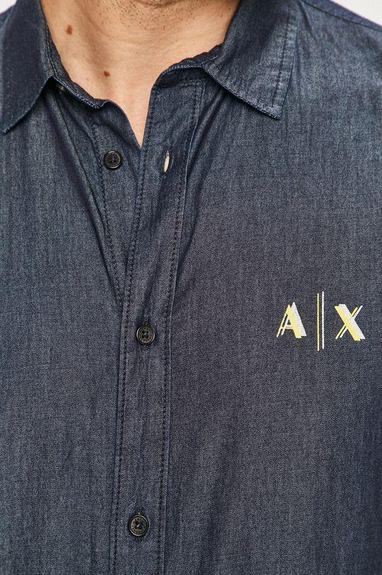 Armani Exchange - Koszula granatowy