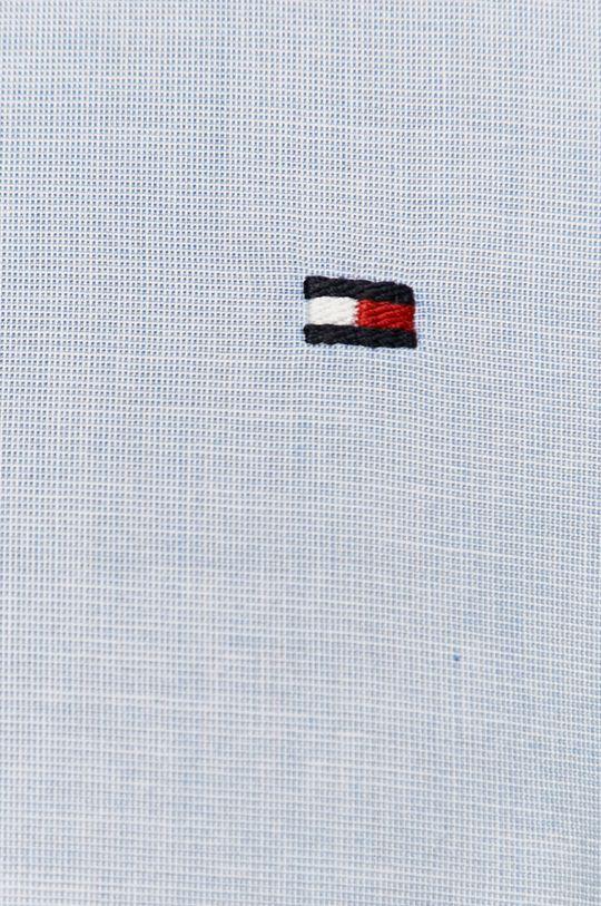 Tommy Hilfiger - Bavlnená košeľa bledomodrá