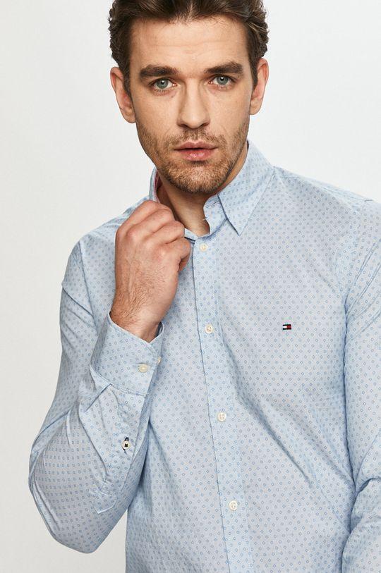 bledomodrá Tommy Hilfiger - Bavlnená košeľa Pánsky