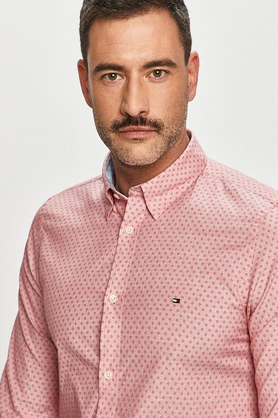 czerwony Tommy Hilfiger - Koszula bawełniana Męski