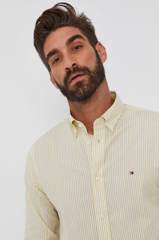 żółty Tommy Hilfiger - Koszula bawełniana Męski