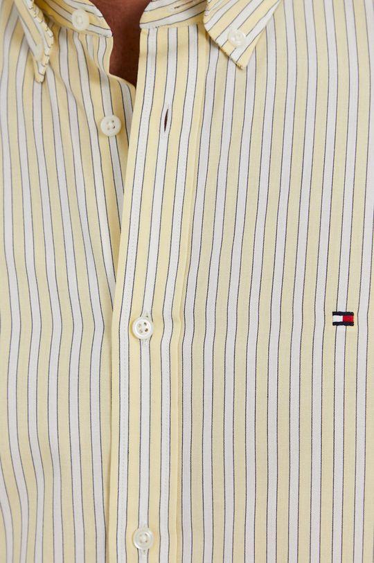 Tommy Hilfiger - Koszula bawełniana żółty