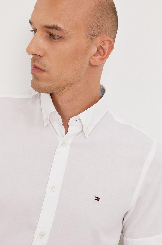 biela Tommy Hilfiger - Bavlnená košeľa Pánsky