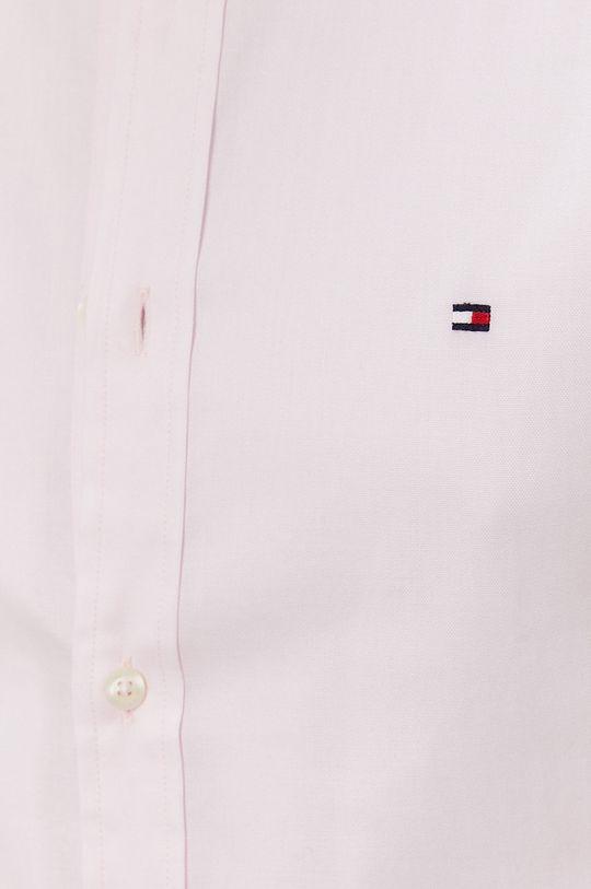 Tommy Hilfiger - Bavlnená košeľa pastelová ružová