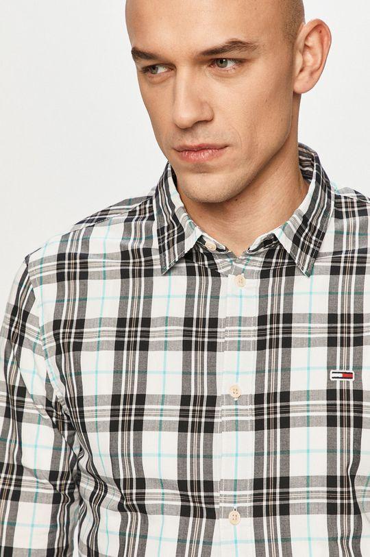 bílá Tommy Jeans - Bavlněné tričko Pánský
