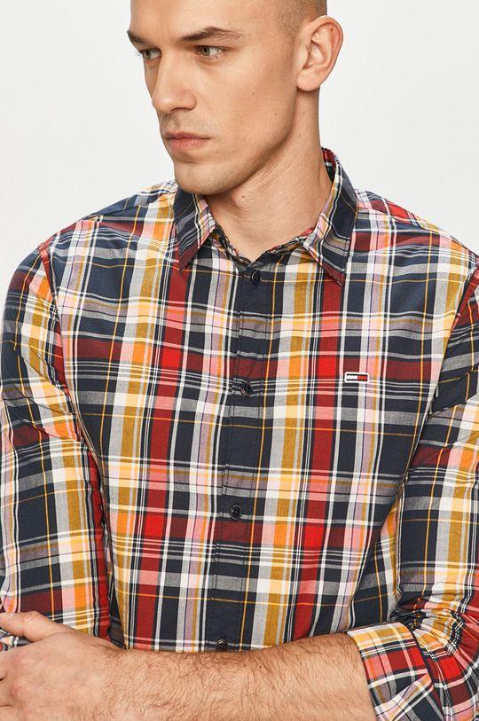 granatowy Tommy Jeans - Koszula bawełniana Męski