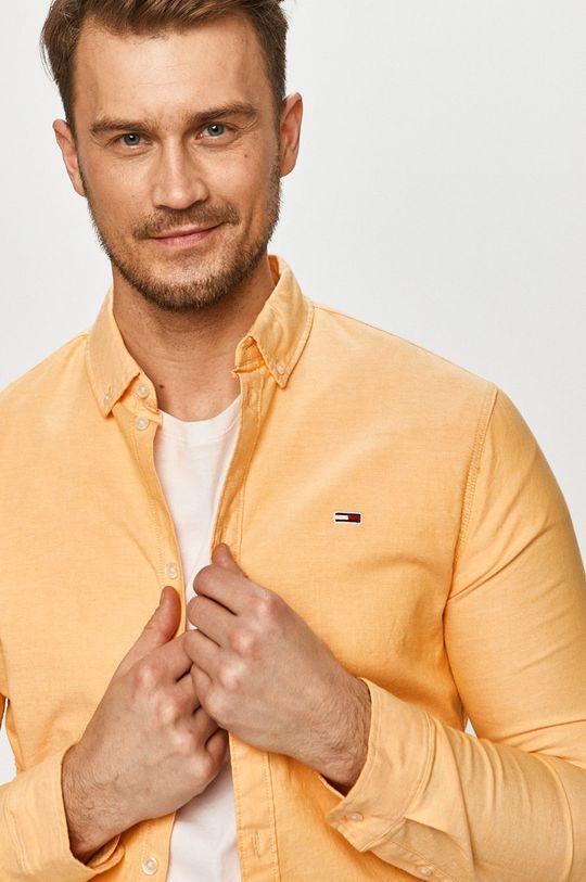 oranžová Tommy Jeans - Košeľa Pánsky
