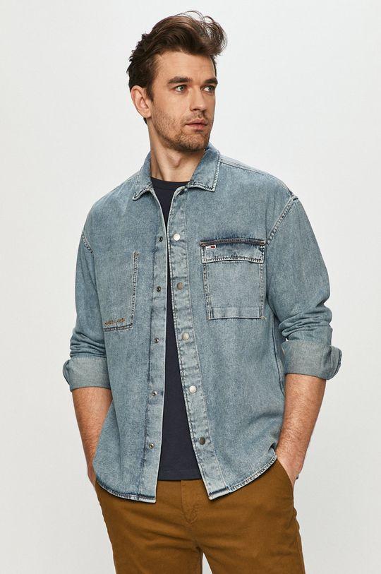 niebieski Tommy Jeans - Koszula jeansowa Męski