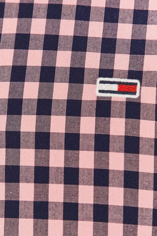 Tommy Jeans - Bavlnená košeľa bledofialový