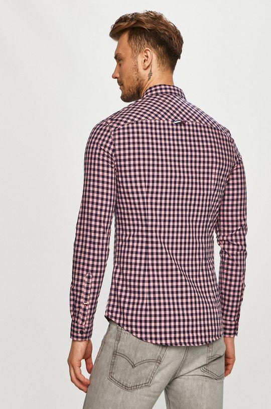 bledofialový Tommy Jeans - Bavlnená košeľa