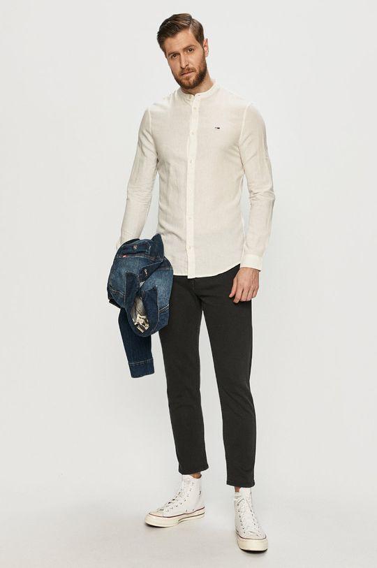 Tommy Jeans - Košeľa  57% Bavlna, 43% Ľan