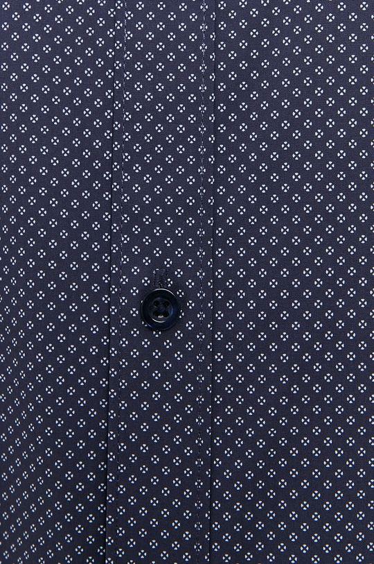 Selected - Koszula bawełniana granatowy