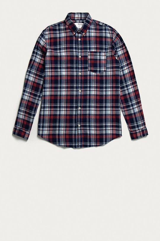 červená Selected - Bavlněné tričko Pánský