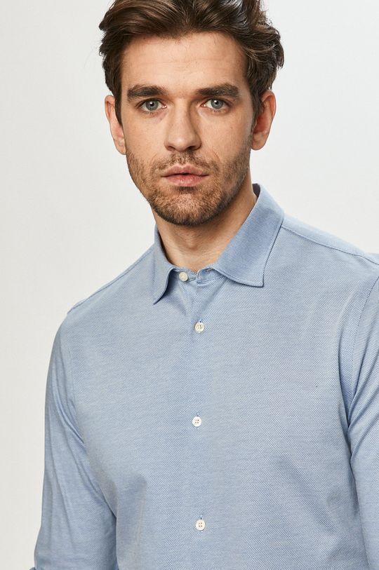 modrá Scotch & Soda - Bavlnená košeľa Pánsky