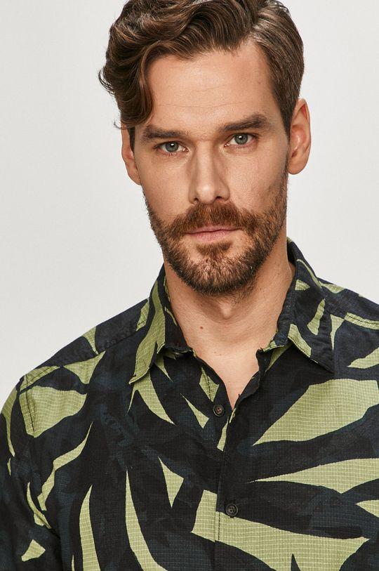 zelená Only & Sons - Bavlněná košile Pánský