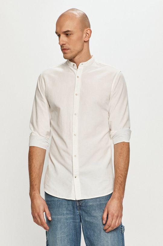 biela Produkt by Jack & Jones - Košeľa Pánsky