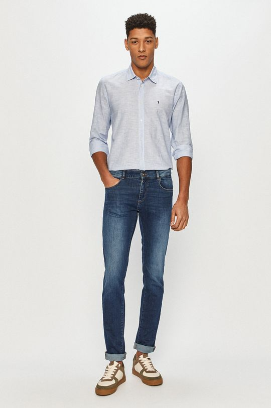 Trussardi Jeans - Košeľa  84% Bavlna, 16% Ľan