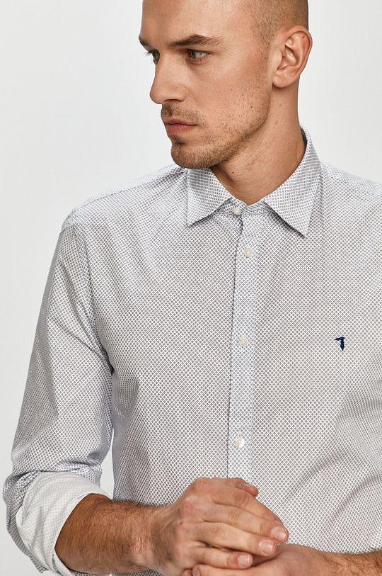 biały Trussardi Jeans - Koszula Męski
