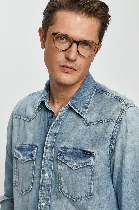niebieski Pepe Jeans - Koszula jeansowa Męski